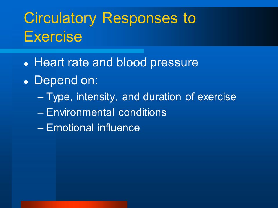 Circulatory Responses to Exercise