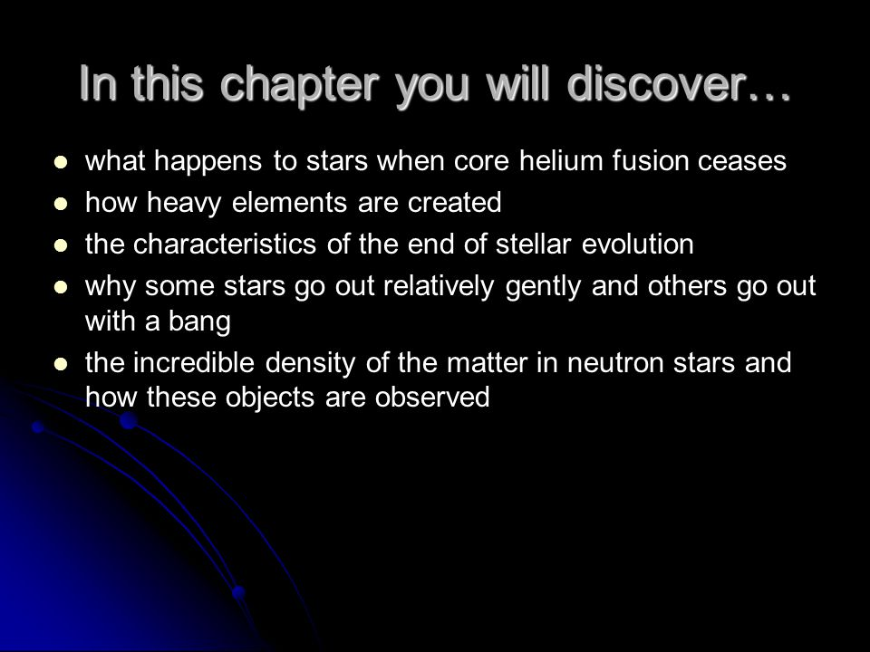 In this chapter you will discover…