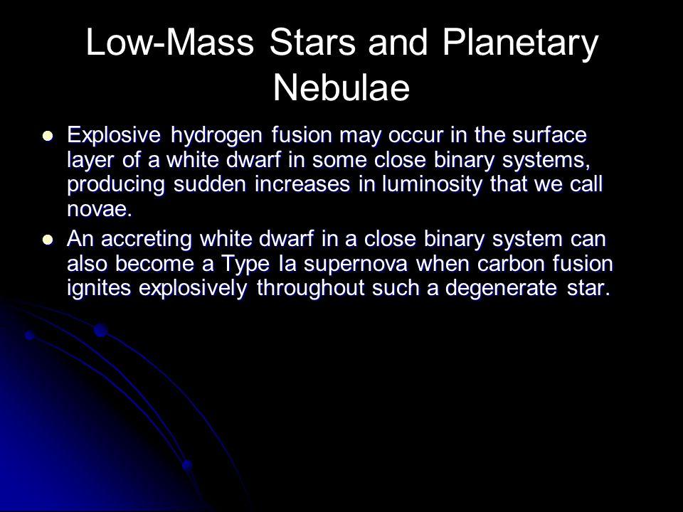 Low-Mass Stars and Planetary Nebulae