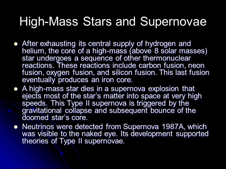 High-Mass Stars and Supernovae