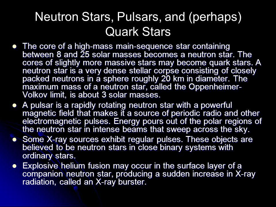 Neutron Stars, Pulsars, and (perhaps) Quark Stars