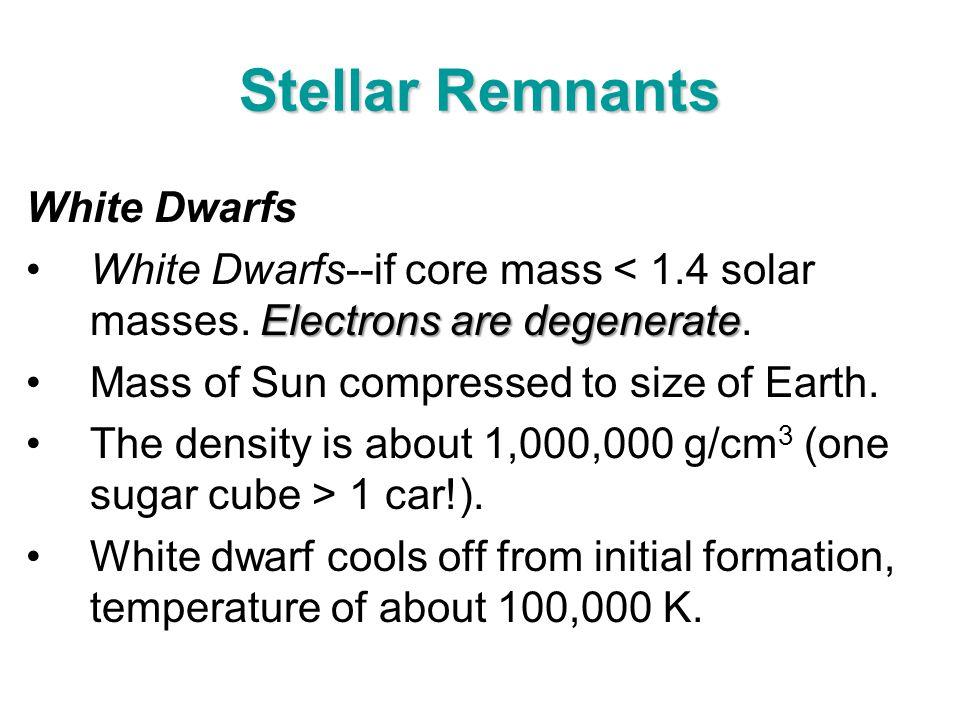 Stellar Remnants White Dwarfs