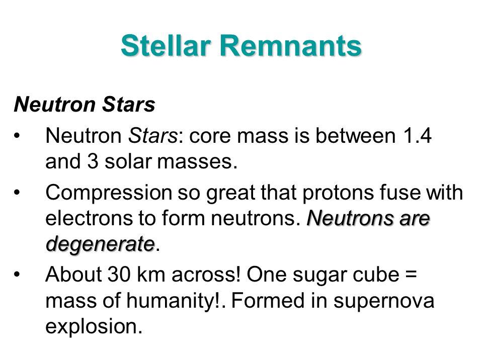 Stellar Remnants Neutron Stars