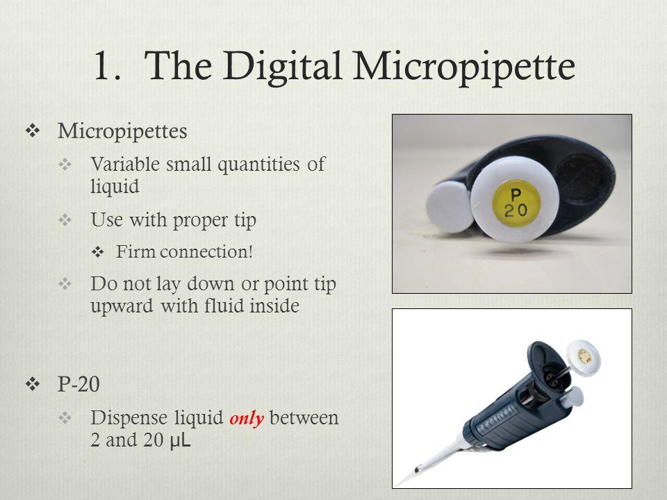 1. The Digital Micropipette