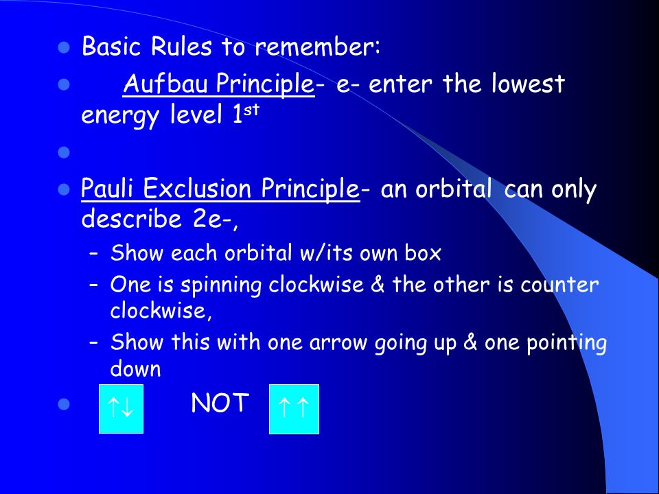 Basic Rules to remember: