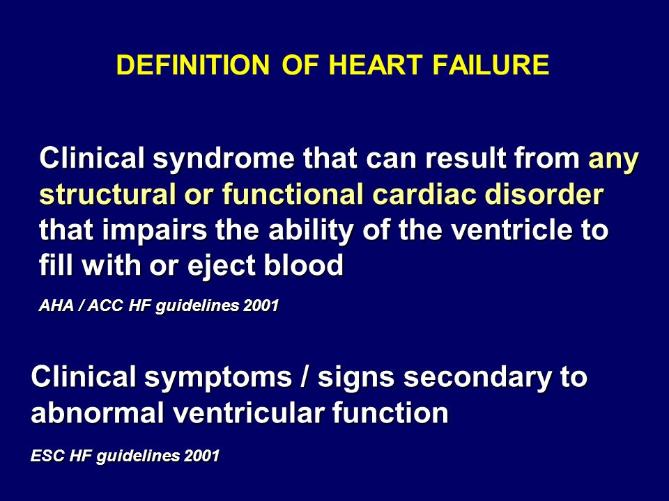 definition of failure The american heart association wants to help you rise above heart failure (hf) find out the warning signs of heart failure, also called congestive heart failure (chf.