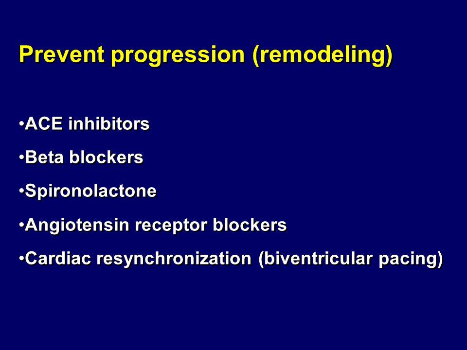 Prevent progression (remodeling)