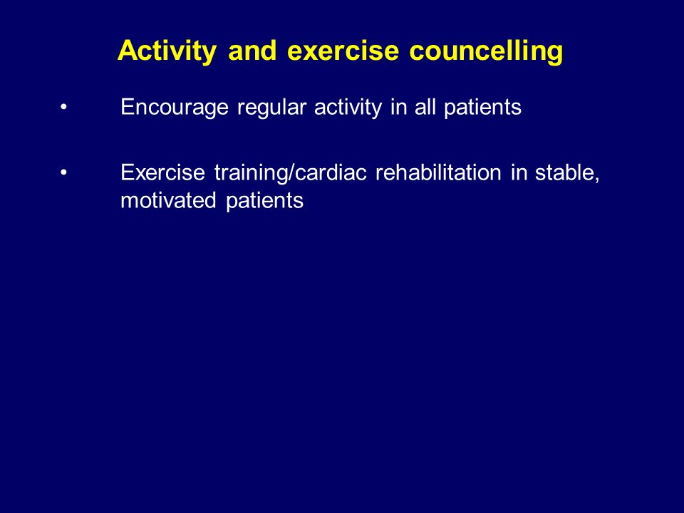 Activity and exercise councelling