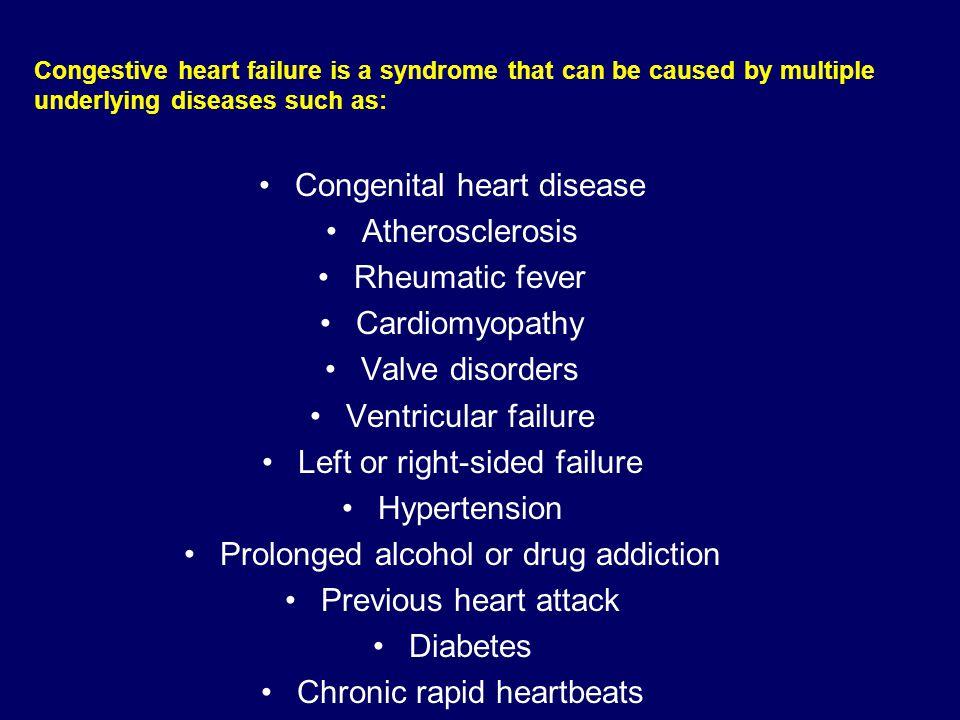 Congenital heart disease Atherosclerosis Rheumatic fever