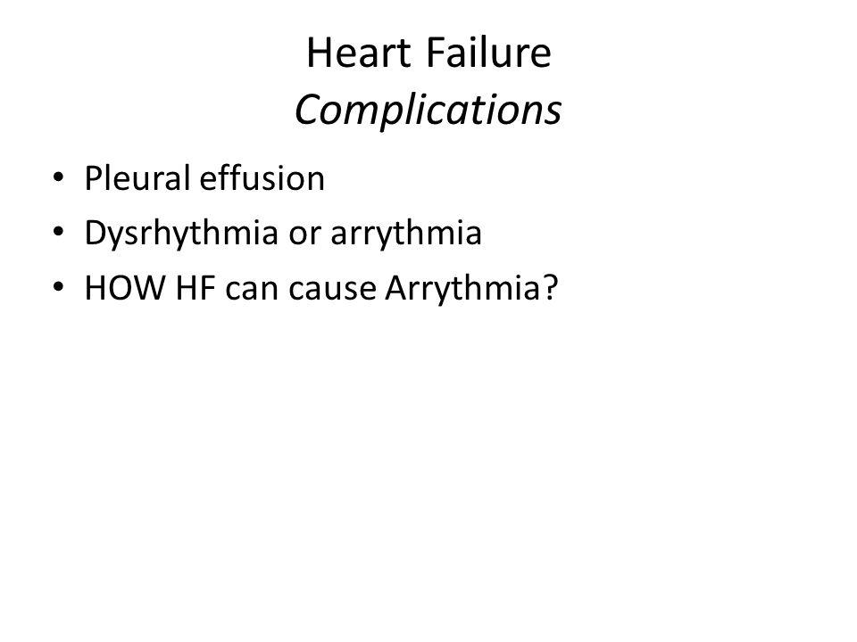Heart Failure Complications