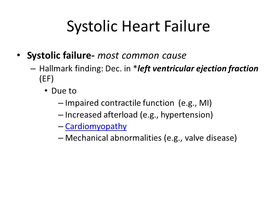 Systolic Heart Failure
