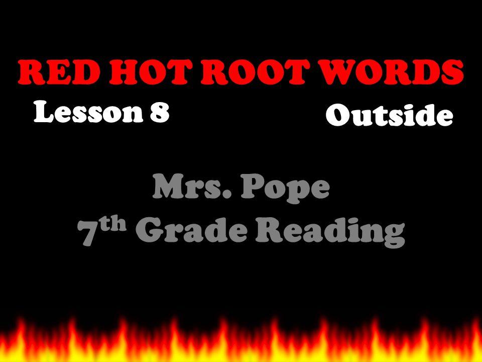 Mrs. Pope 7th Grade Reading