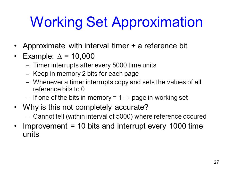 Working Set Approximation