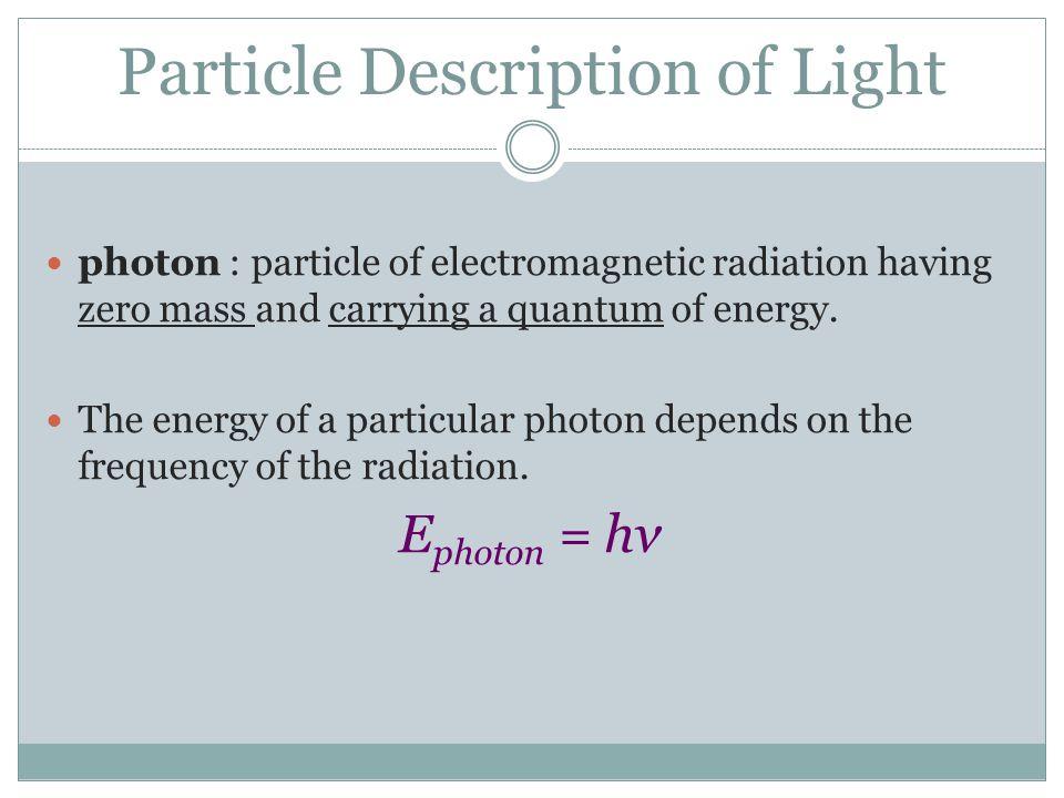 Particle Description of Light