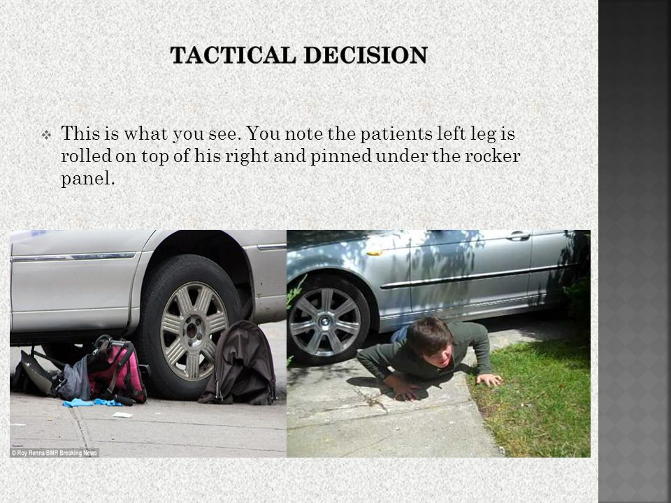 Tactical Decision This is what you see.