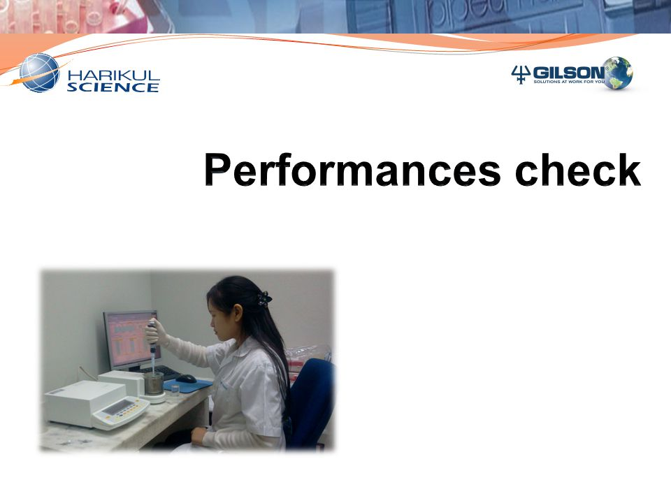 Performances check