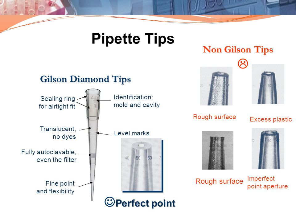 Pipette Tips L JPerfect point Non Gilson Tips Gilson Diamond Tips
