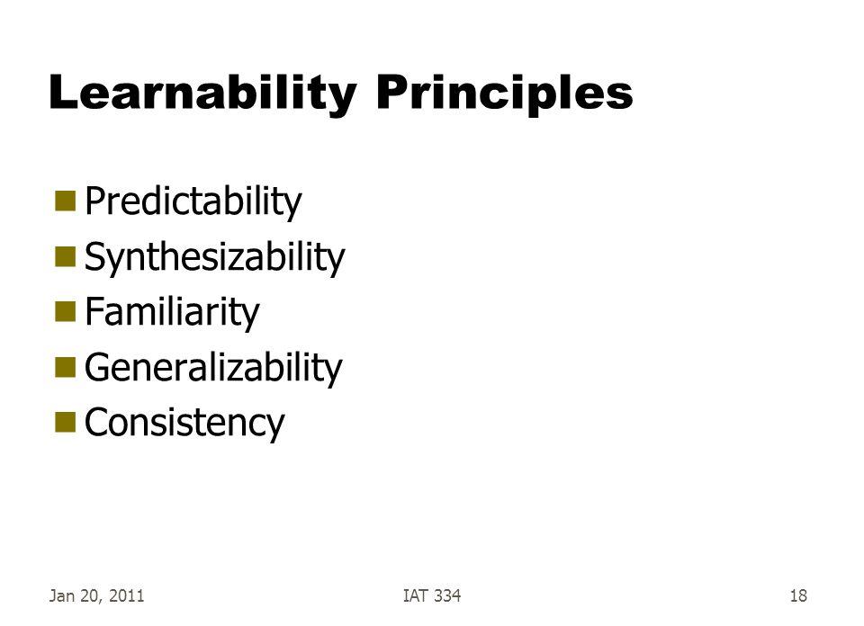 Learnability Principles