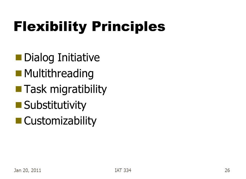 Flexibility Principles