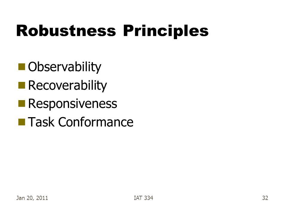 Robustness Principles