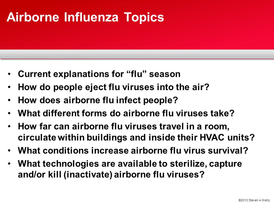 Airborne Influenza Topics