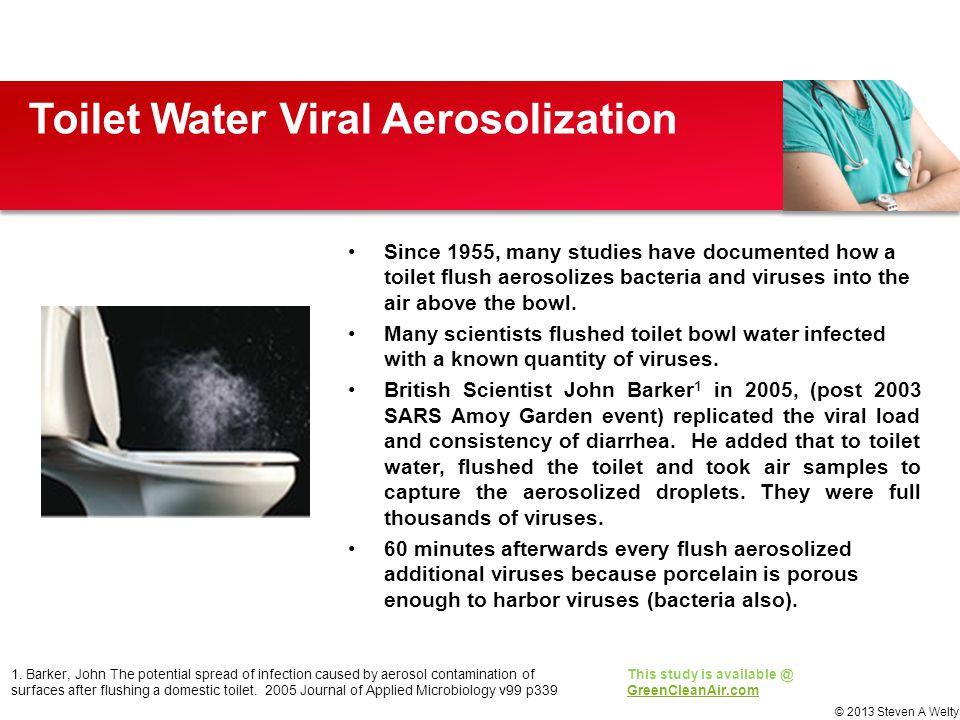 Toilet Water Viral Aerosolization