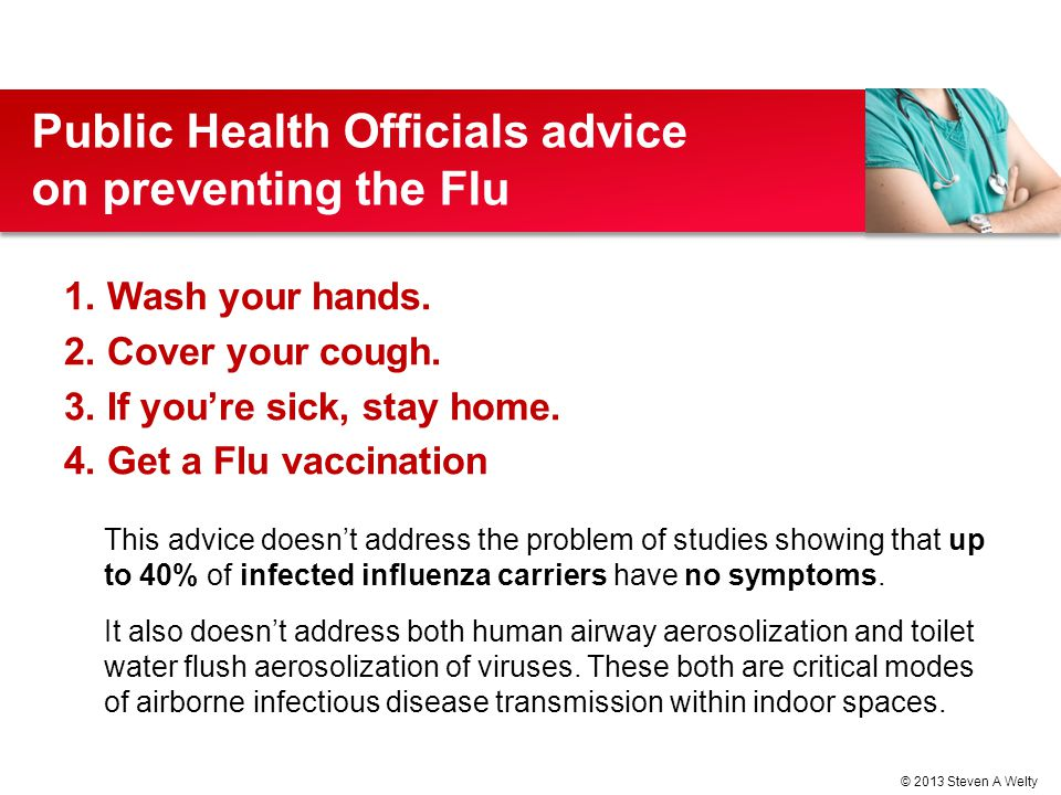 Public Health Officials advice on preventing the Flu