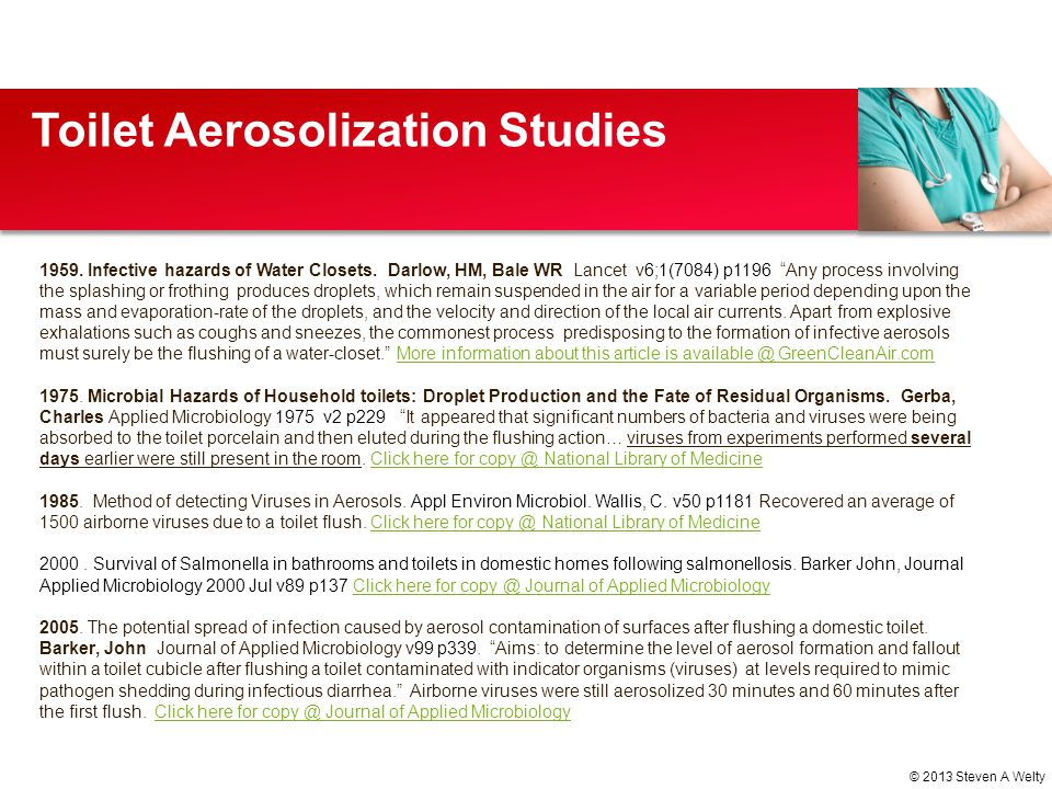 Toilet Aerosolization Studies