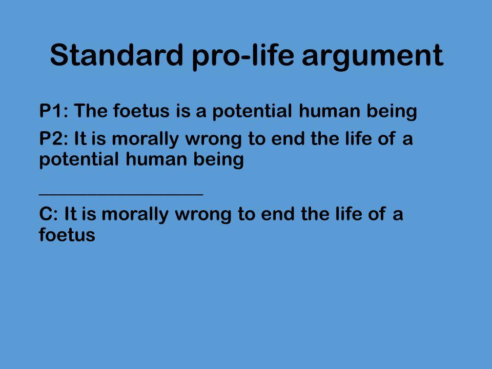 Standard pro-life argument