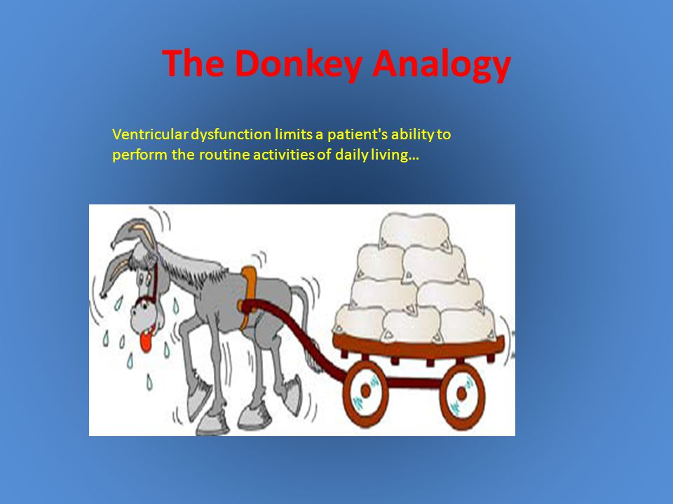 The Donkey Analogy Ventricular dysfunction limits a patient s ability to.