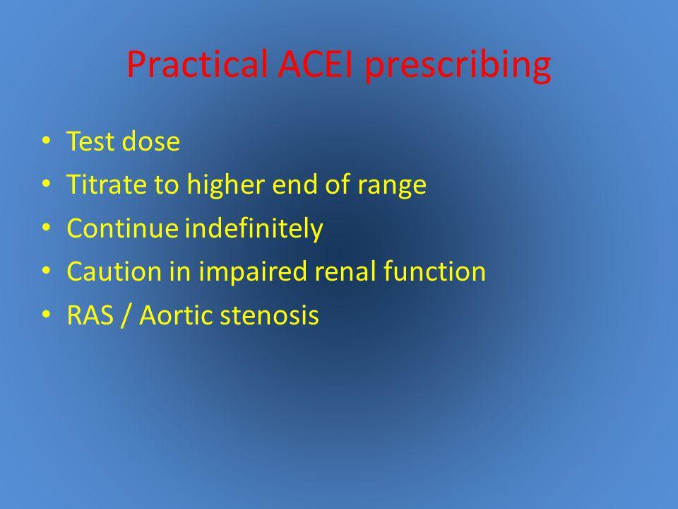 Practical ACEI prescribing