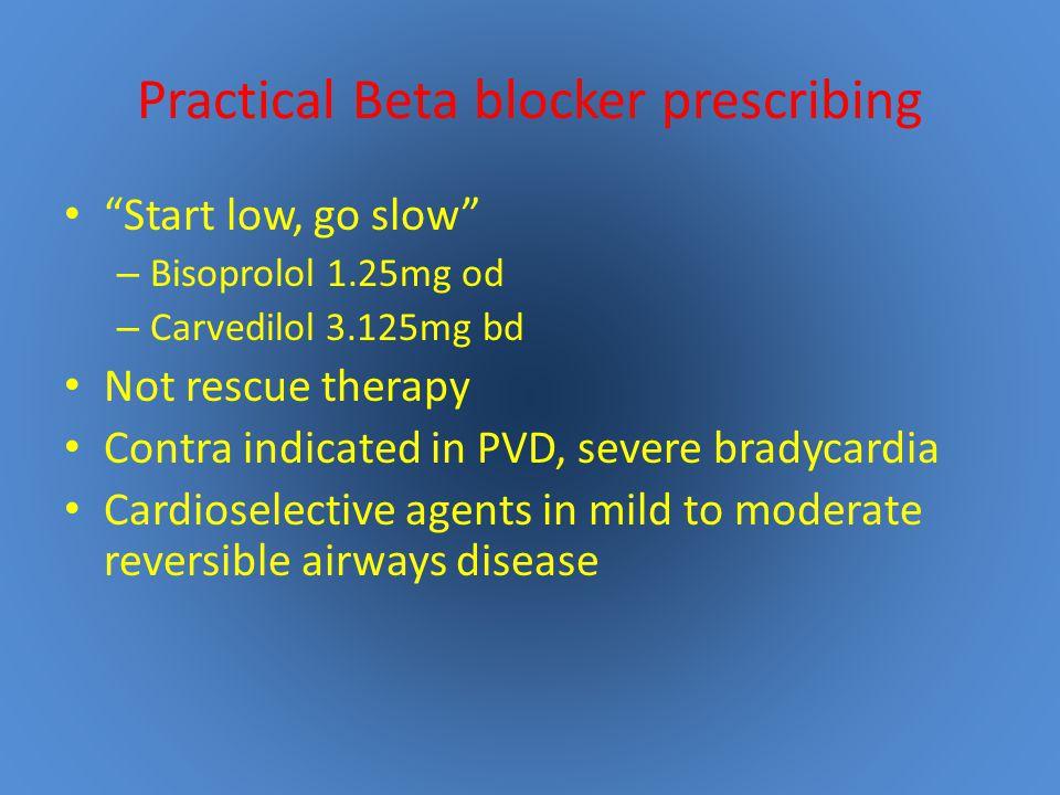 Practical Beta blocker prescribing