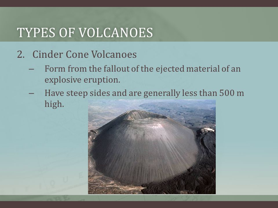 Types of Volcanoes Cinder Cone Volcanoes