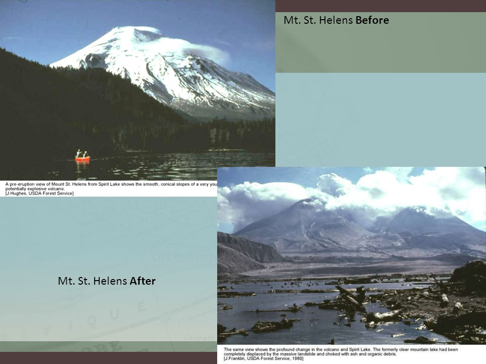 Mt. St. Helens Before Mt. St. Helens After