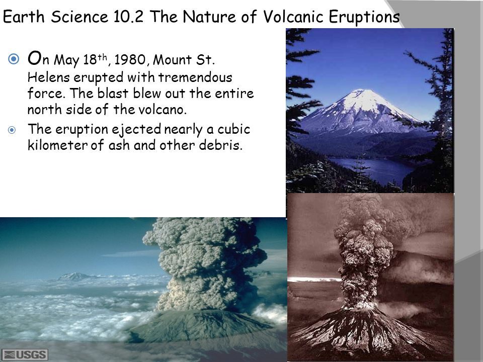 Earth Science 10.2 The Nature of Volcanic Eruptions