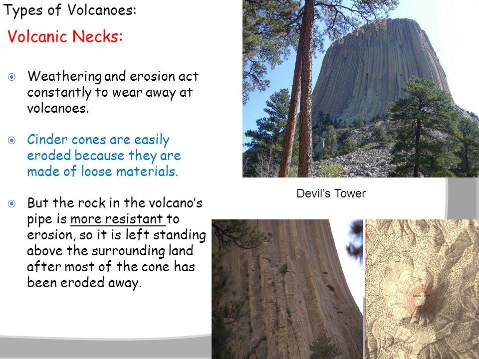 Volcanic Necks: Types of Volcanoes: