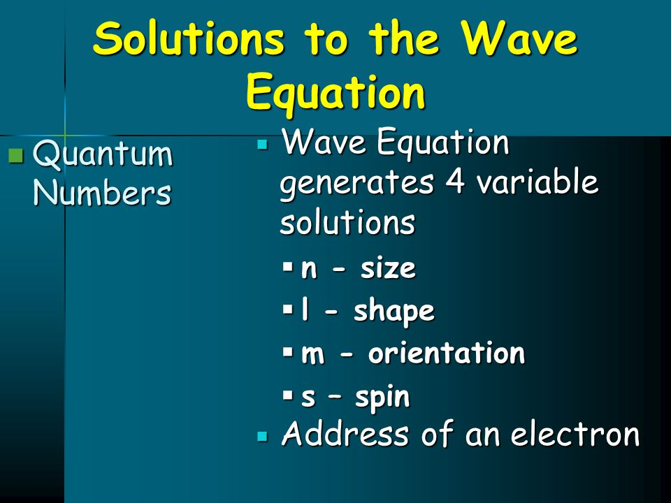 Solutions to the Wave Equation