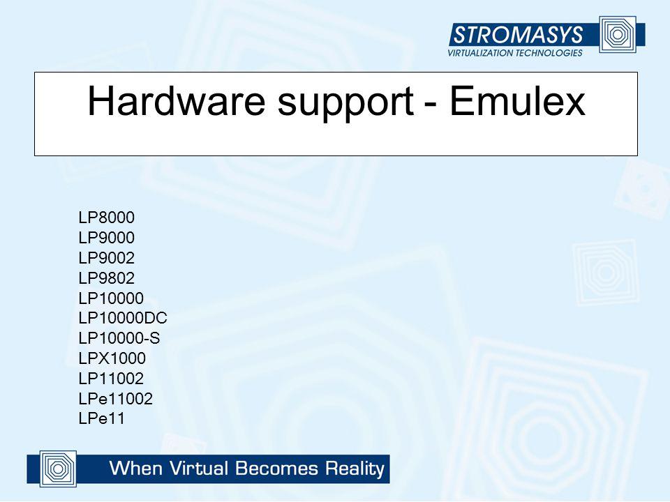 Hardware support - Emulex