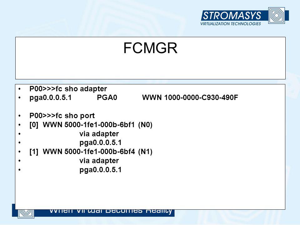 FCMGR P00>>>fc sho adapter