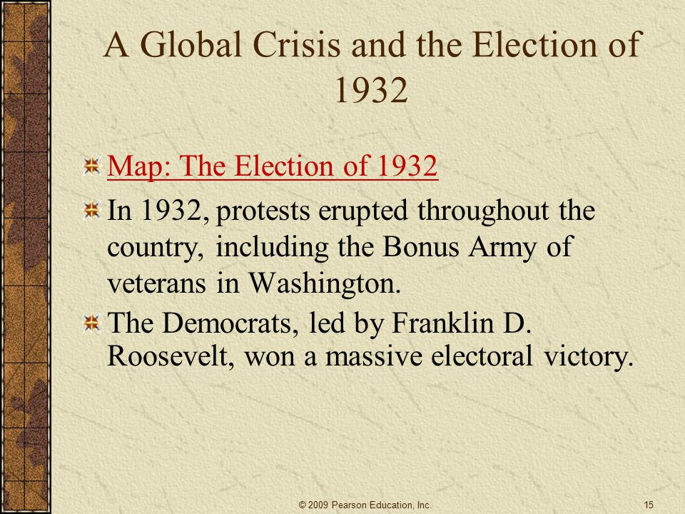 A Global Crisis and the Election of 1932