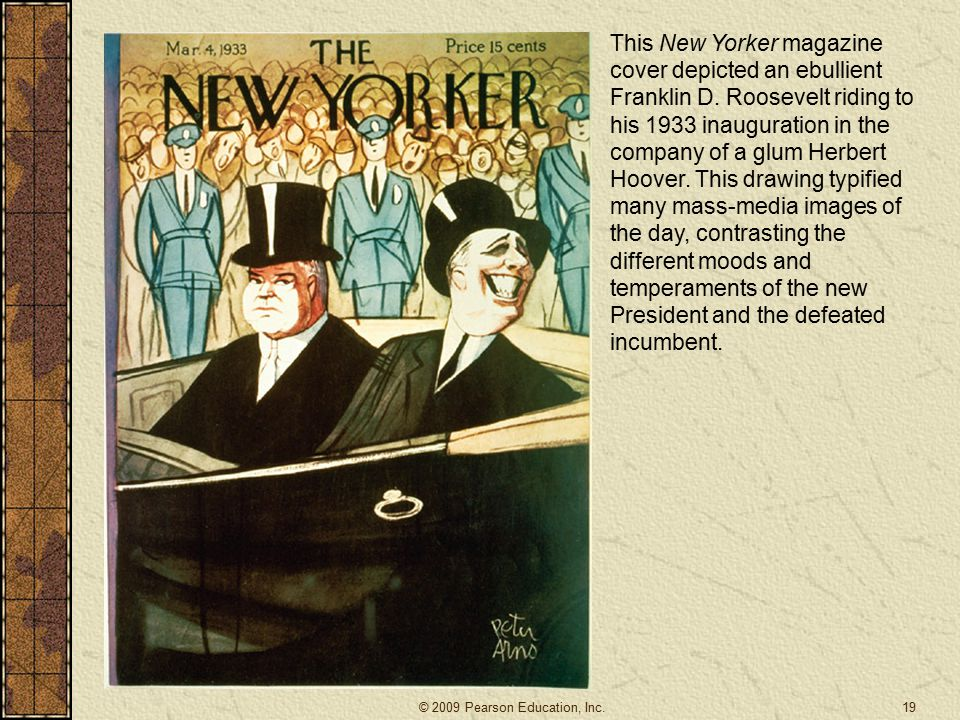 This New Yorker magazine cover depicted an ebullient Franklin D