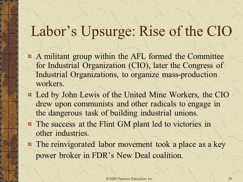 Labor's Upsurge: Rise of the CIO