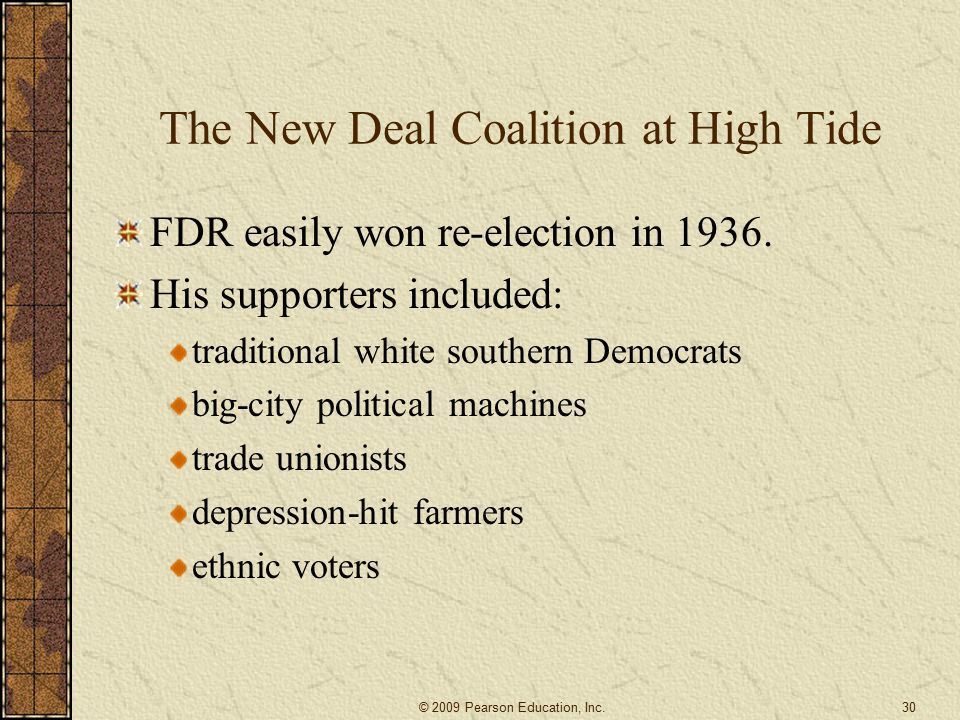 The New Deal Coalition at High Tide