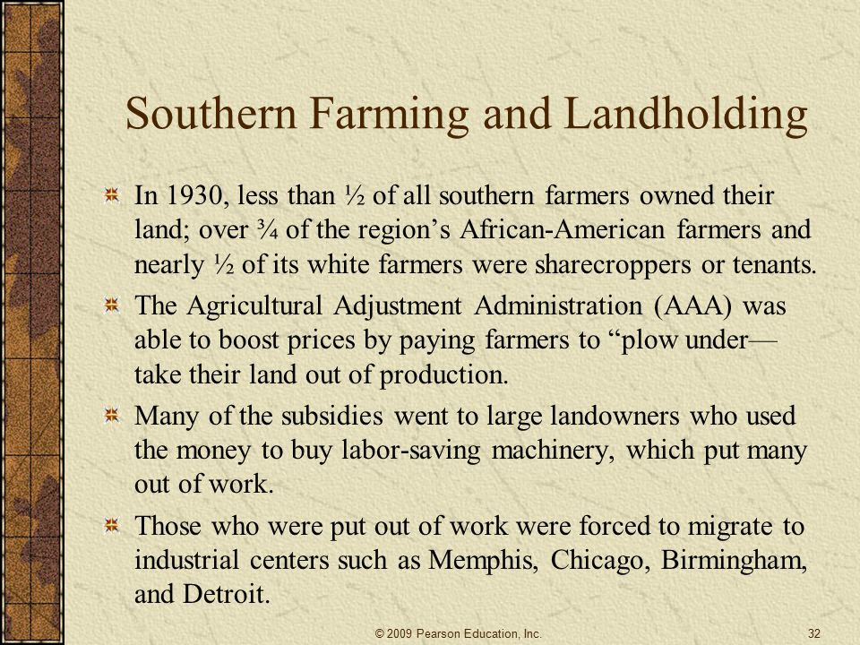 Southern Farming and Landholding
