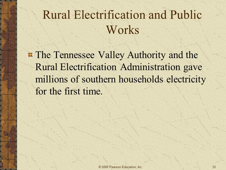 Rural Electrification and Public Works