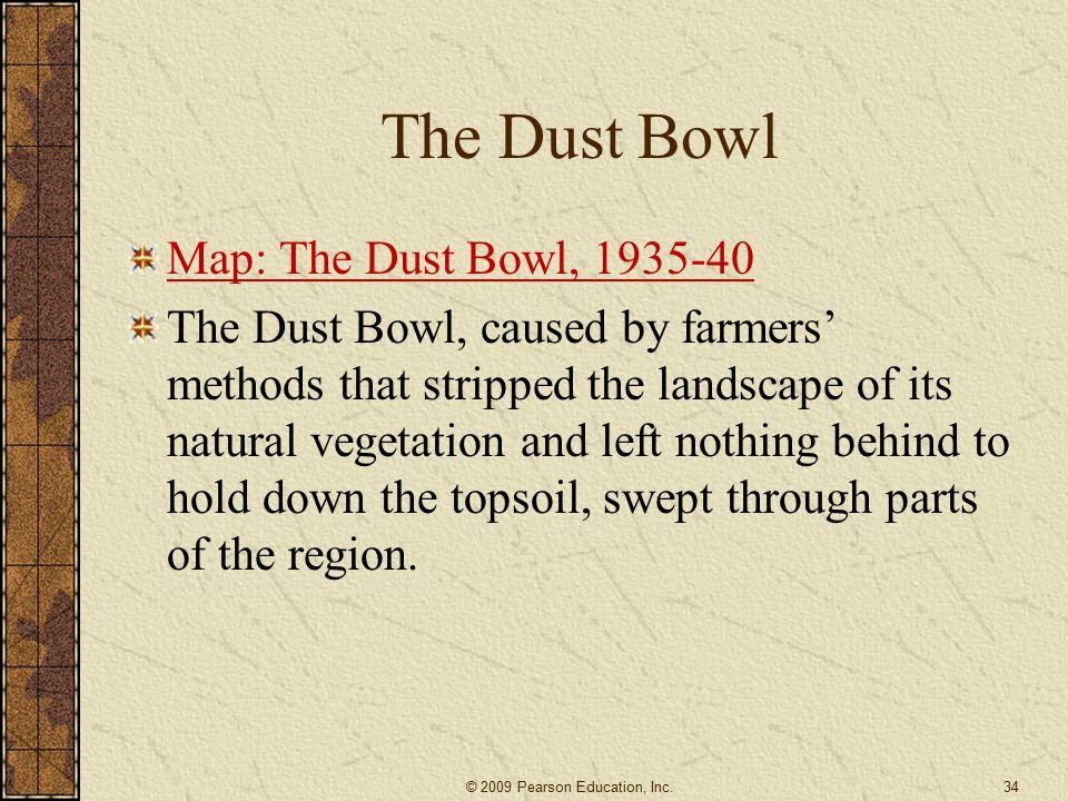 The Dust Bowl Map: The Dust Bowl, 1935-40