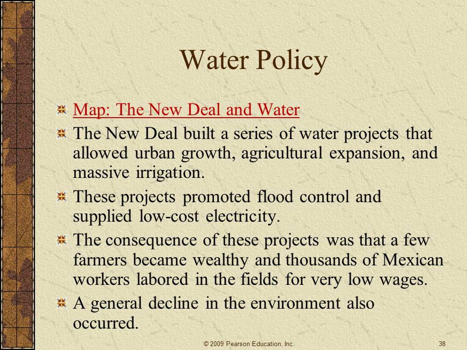 Water Policy Map: The New Deal and Water