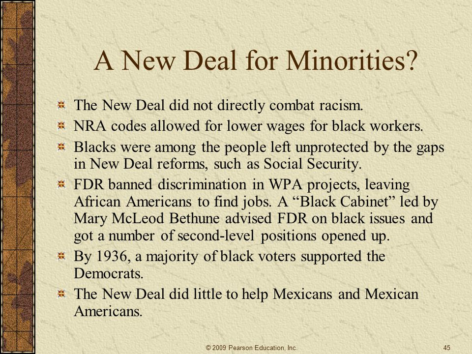 A New Deal for Minorities