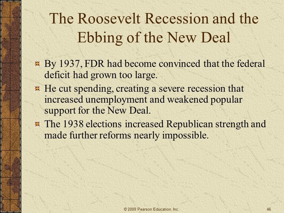 The Roosevelt Recession and the Ebbing of the New Deal