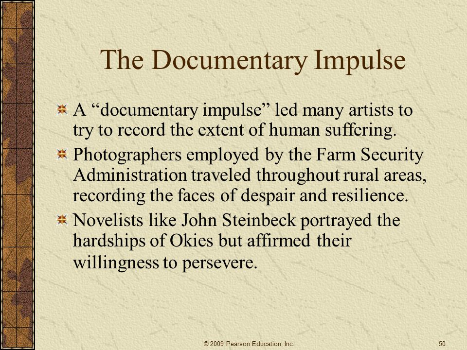 The Documentary Impulse